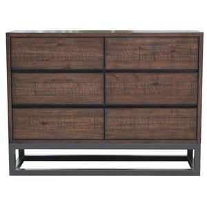 Natalia 6 Drawer Double Dresser Brown