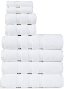 Espinoza 8-Piece Cotton Towel Set White