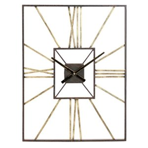 Dillwyn Wall Clock Antique Brass And Gray