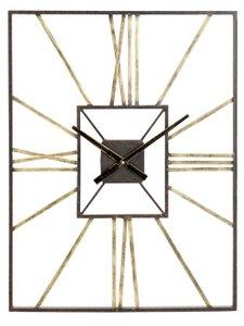 Dillwyn Wall Clock Antique Brass And Gray