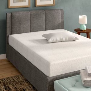 "Sleep Memory Foam King Mattress 10"" White"