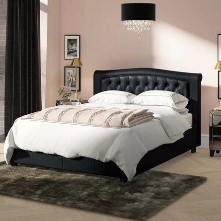 Guilherme Upholstered California King Bed Black