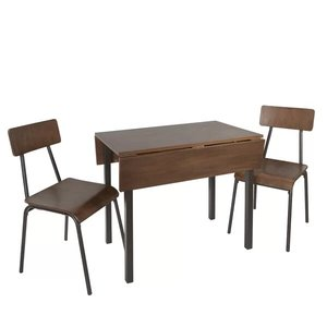 Araminta Industrial Dining Set For 2 Brown