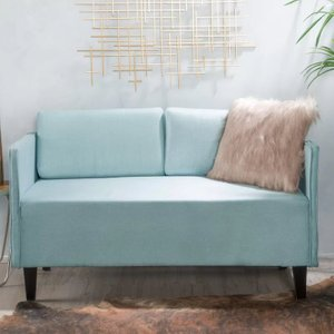 Jules Loveseat Light Blue
