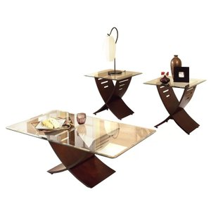 Bohl 3 Piece Coffee Table Set Dark Oak