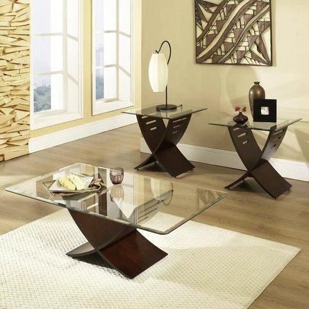 Bohl 3 Piece Coffee Table Set Dark Oak