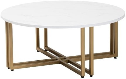 Maeve Coffee Table White & Gold