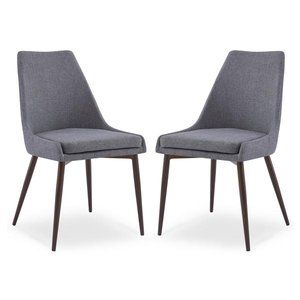 Ethen Dining Chairs Gray (Set of 2)