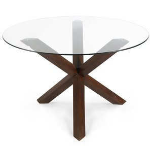 "Kennedy 48"" Round Dining Table Walnut"