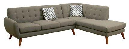 Jaspa Belinda Sectional Sofa Gray