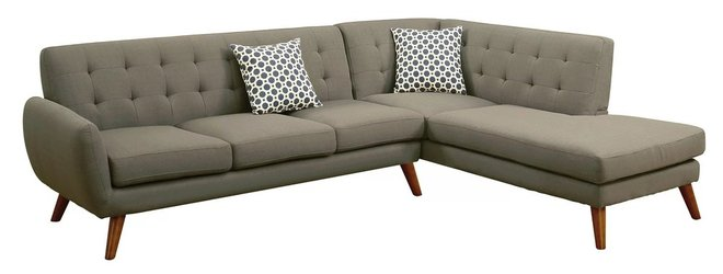 Jaspa Belinda Sectional Sofa Gray