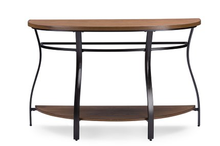 Baxton Studio Newcastle Console Table Brown And Black