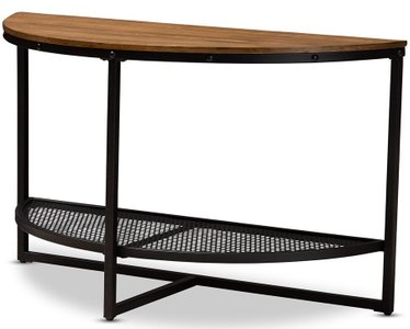 Chesson Half Moon Console Table Dark Bronze