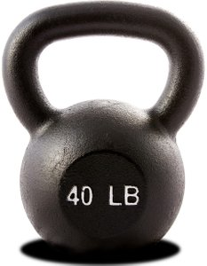 Hercules 40 lb Kettlebell Black (Single Unit)