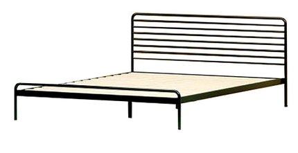 Henry Metal Sonnet Platform King Bed Black