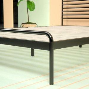 Henry Metal Sonnet Platform Queen Bed Black & Natural