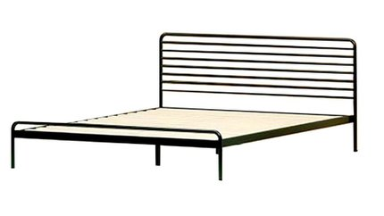Henry Metal Sonnet Platform Queen Bed Black & Natural