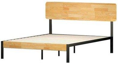 Hines Metal and Wood Tuscan Platform King Bed Rustic Wood