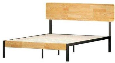 Hines Metal And Wood Tuscan Platform Queen Bed Rustic Wood