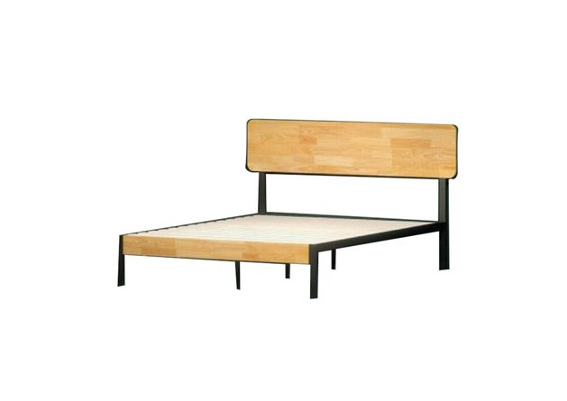 Hines Metal and Wood Tuscan Platform Twin Bed Rustic Wood