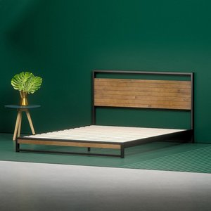 Homan Ironline Low Profile Platform Queen Bed