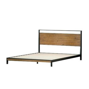 Suzanne Low Profile Platform King Bed Black & Natural