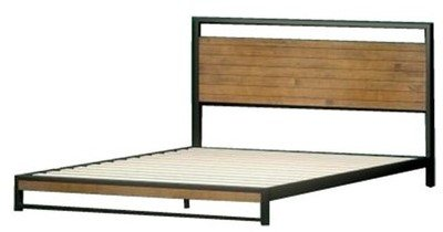 Suzanne Low Profile Platform Queen Bed Black And  Natural