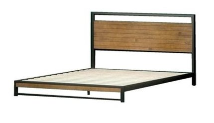 Suzanne Low Profile Platform Queen Bed Black & Natural