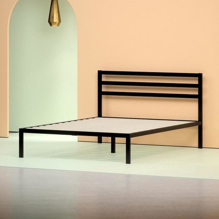 Hume Steel Platform Queen Bed Black