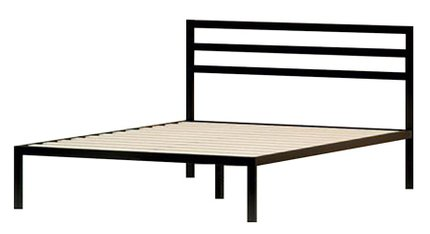 Hume Steel Platform Twin Bed Black