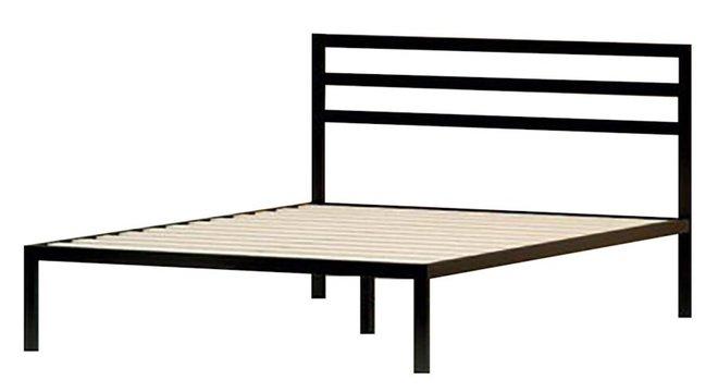 Hume Steel Platform King Bed Black