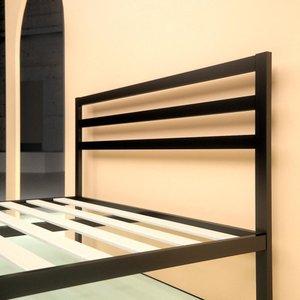 Hume Steel Platform Queen Bed Black