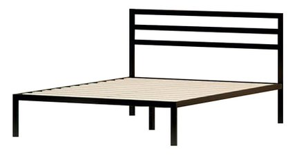 Hume Steel Platform Full Bed Black