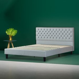 Jasper Upholstered Grand Button Tufted Platform Full Bed