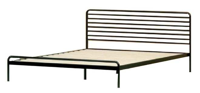 Henry Metal Sonnet Platform Twin Bed Black