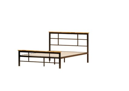 Howard Metal And Wood Urban Platform Twin Bed Black