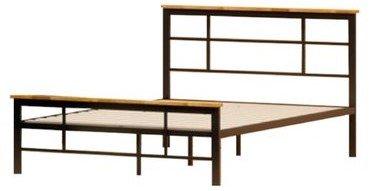 Howard Metal And Wood Urban Platform Full Bed Black