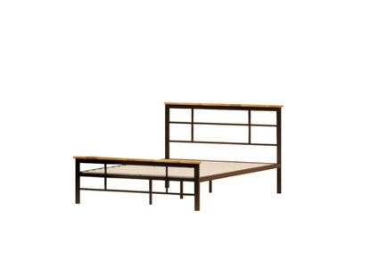 Howard Metal And Wood Urban Platform Full Bed Black