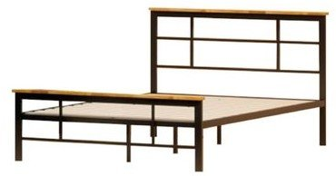 Howard Metal And Wood Urban Platform Queen Bed Black
