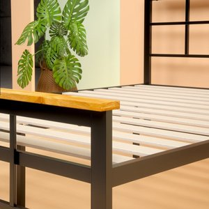 Howard Metal And Wood Urban Platform King Bed Black