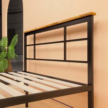 Howard Metal and Wood Urban Platform King Bed