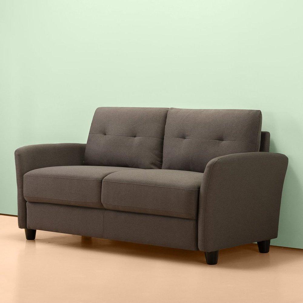 Outstanding Headley Contemporary Loveseat Chestnut Brown Machost Co Dining Chair Design Ideas Machostcouk
