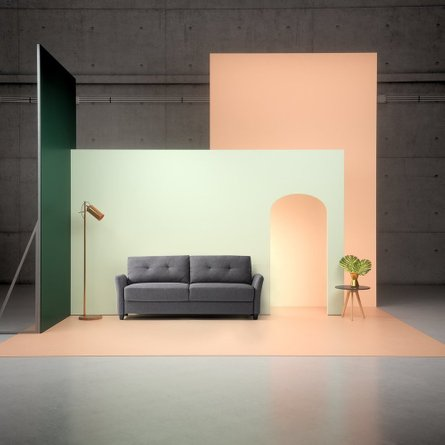 Headley Contemporary Sofa Dark Gray