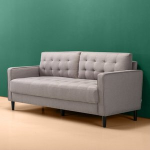 Makai Mid-Century Sofa Quilted Stone Gray