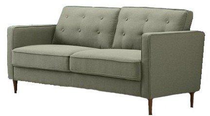 Makai Mid-Century Sofa - Button Tufted Pear Green