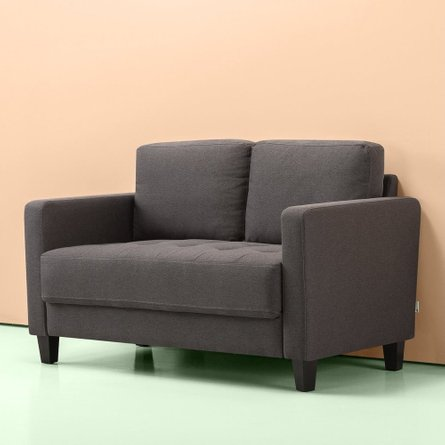 Mari Modern Loveseat Steel Gray