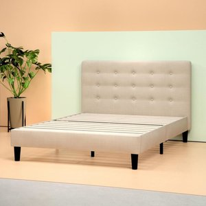 Beid Upholstered Button Tufted Platform Queen Bed