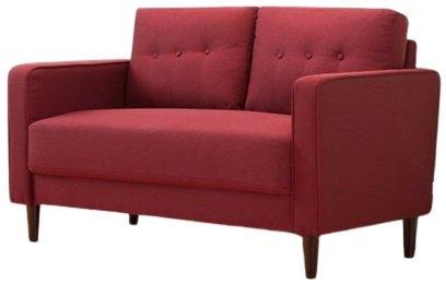 Makai Mid-Century Loveseat Ruby Red