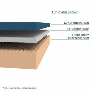 "Cooling Gel Memory Foam King Mattress 10"""