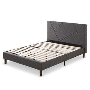 Judy Upholstered Platform Queen Bed Gray